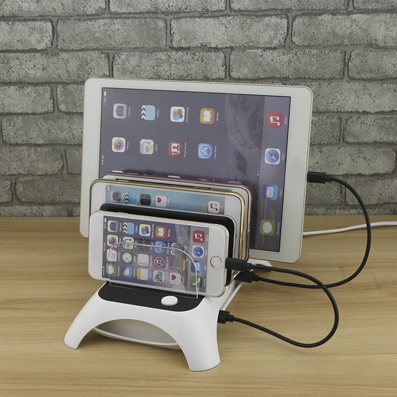 5 Ports 2.4A USB bureau chargement Dock voyage rapide chargeur Hub pour IPhone Smartphone tablette USB chargeur Station bureau chargement Dock