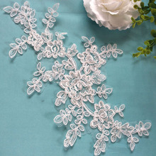 10Pieces High Quality Guipure Lace Applique Trim Embroidered Sewing Supplies DIY Ribbon Decoration For Lace Dress plus guipure lace trim ladder cutout neck tee