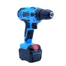 21V Tow-speed selection Cordless electric drill +1pcs*Rechargeable Battery electric screwdriver power tool+ 27pcs accesories