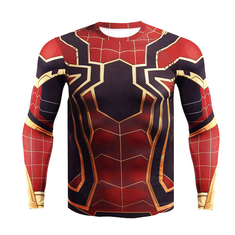 Avengers Infinity War Iron Spider Short long tshirt halloween Spiderman costumes