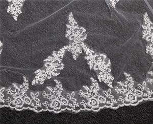 Image 3 - Appliques del merletto Top Erba 3*1.5M Lunga Coda One Strato di Pizzo Bordo Treno Lungo Bella Velo Da Sposa per il Vestito Da Sposa
