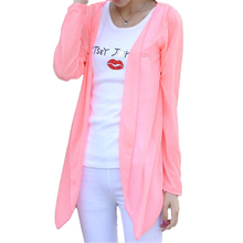 Sale 14Colors Fashion Women Candy Colors Sun Protection Casual Cardigans Air Conditioning Shirts Thin Coat Blouse