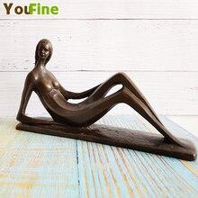 Bronze abstract female sculpture nude woman desktop ornament decoration female nude