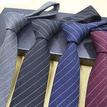 2017 new fashion men's 7CM ultra-narrow tie 100% cotton men's tie men's striped tie business groom party tie