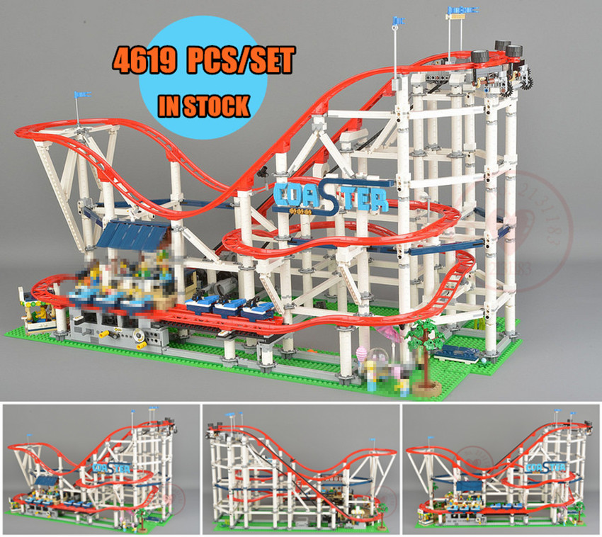 New 4619PCS The roller coaster fit legoings city creator technic figures Buidling Blocks Bricks 10261 Kid diy Toys birthday gift