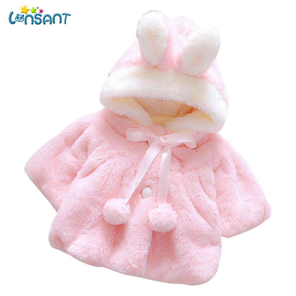 LONSANT Winter Jacket Cloak Warm Baby-Girl High-Quality Infantil Thick Autumn Coat Menina