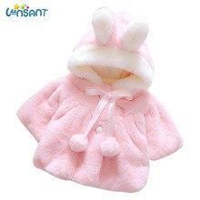 LONSANT/пальто для новорожденных девочек; пальто с кроликом; куртка для маленьких девочек; Детское пальто с капюшоном; хлопковая куртка; зимнее пальто; N30