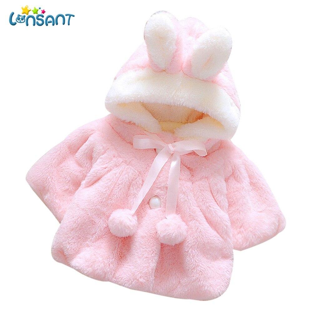 Lonsant 2018 roupas de inverno da menina do bebê outono inverno quente casaco casaco casaco casaco casaco grosso roupas quentes alta qualidade infantil menina