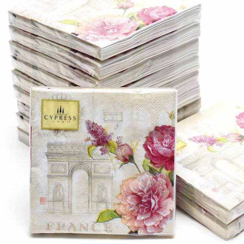 Cocktail Napkins 20pcs 2525cm 3 Ply Pink Wedding Paper For Decoupage Beautiful Serviettes 4NC4160B In Disposable Party Tableware From