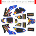 Blue 3M ROCKSTAR sticker/decals/Paster/graphic of dirt bike/pit bike CRF50/XR50 use!