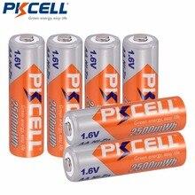 6Pcs * PKCELL Batterie NI ZN 1.6V AA Batteria Ricaricabile 2A in 2500mwh nizn aa ricarica della batteria per la macchina fotografica E giocattoli