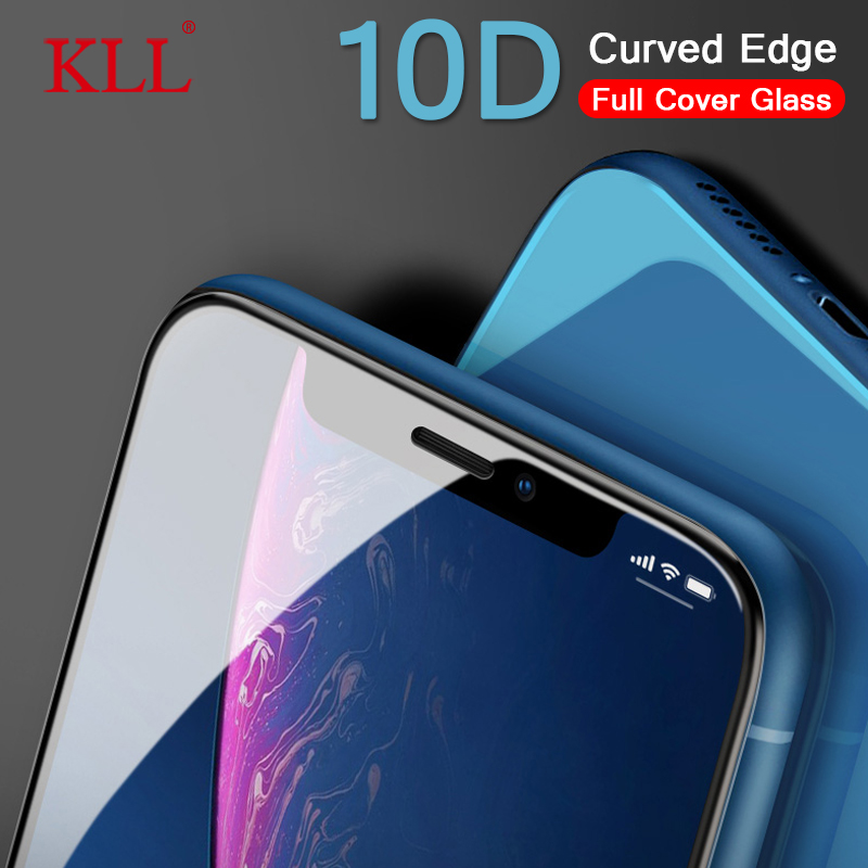 10D Curved Edge Full Cowl Tempered Glass For Iphone X Xs Max Xr Display Protector Glass For Iphone eight 7 6 6S Plus Protecting Movie