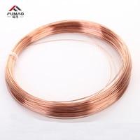 FUMAO 1 kg Red Cu line T2 Copper Wire Diameter 0.5 0.8 1 1.5 2 2.5 3 4 5mm Pure Copper Bare Wire