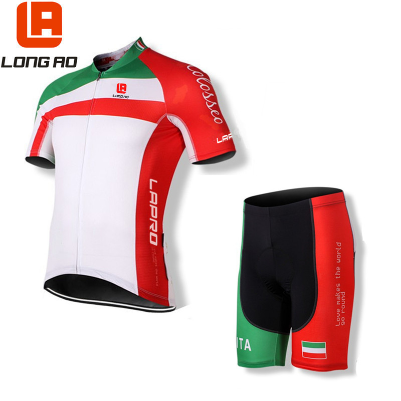 Country Team Sport Bike Ciclismo Set Jersey Cycling Clothing Short LONGAO Bike Shirt Italy flag style cycling jersey bike jersey все цены