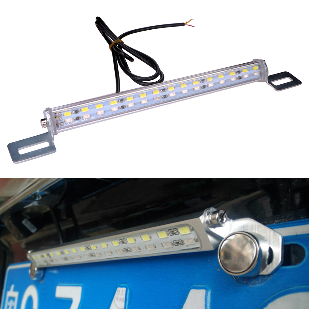 ITimo 30 LEDs License Plate Lamp Car Parking Reversing Lights Auto Rear Braking Lamp Car-styling LED Tail Light Bar 7.5W 12V