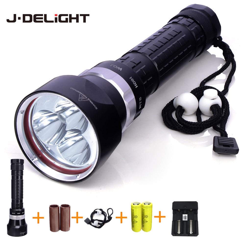 ФОТО Diving Light 3xL2 Linterna LED Flashlight Waterproof Underwater Torch Lamp Underwater 50 Meter