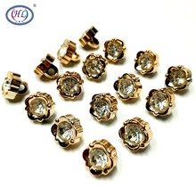 HL 50PCS/150PCS 11MM New Plating Buttons With Rhinestones Shank DIY Apparel Sewing Accessories Shirt
