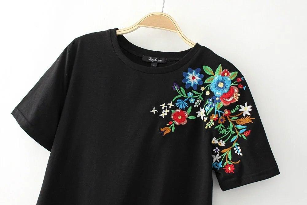 HTB11zI7QXXXXXcDXVXXq6xXFXXXk - Women Cotton Slim Floral Tshirts Casual Street Daily
