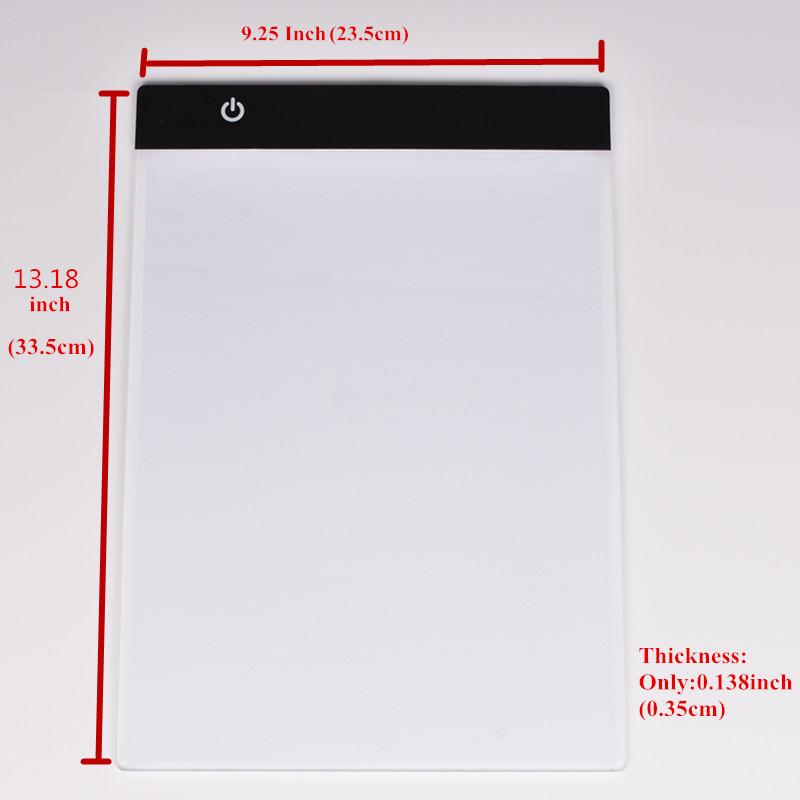 geekoplanet.com - Ultrathin A4 LED Portable Drawing Board
