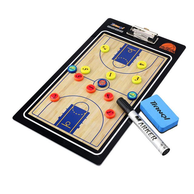 Professional Basketball Coaching Board Coaches Clipboard Dry Erase Marker Basketball Tactical Board