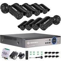 DEFEWAY 8CH 1200TVL HD открытый охранных камера системы CCTV камера видеонаблюдения комплект с аварийного батарея новое поступление
