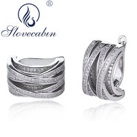 Slovecabin Pure 925 Sterling Silver Round Hoop Earrings For Women Vintage Silver 925 Wedding Earrings Femme High Quality Jewelry