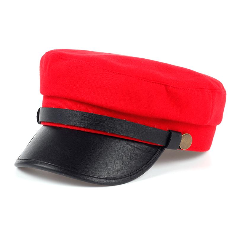 Newsboy Cap - Fashion Cotton Newsboy Hat for Women - Red