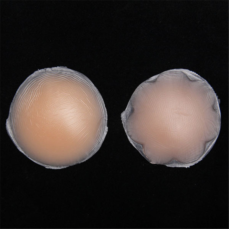 1 Pair Hot Reusable Invisible Self Adhesive Silicone Breast Chest Nipple Cover Bra Pasties Pad Petal Mat Stickers Accessories