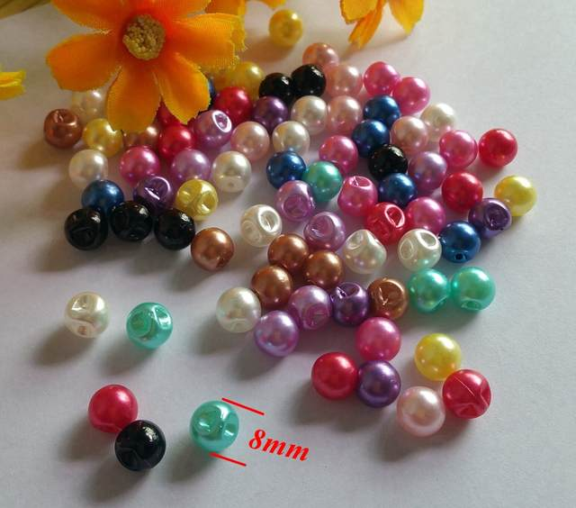 9951fbdfbce7a 150pcs/lot 8mm Pearl Buttons side hole Resin Sewing decorative Buttons for  Craft Shirt Garment Accessories-in Buttons from Home & Garden on  Aliexpress.com ...