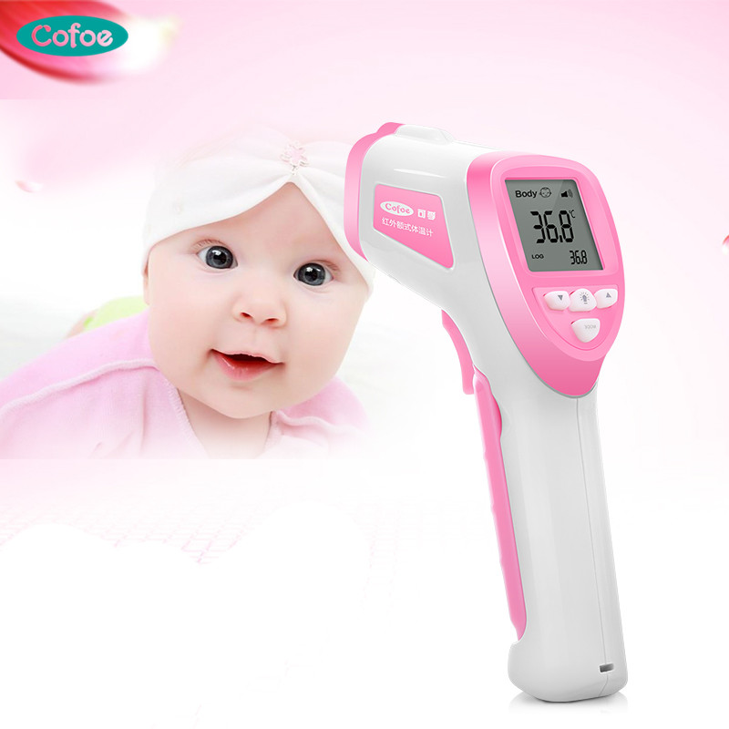 Cofoe Infrared Electronic Baby Thermometer Digital Non-contact Forehead Medical Body Temperature Measurement Device laoa high precision digital termomete infrared forehead body thermometer gun non contact temperature measurement device