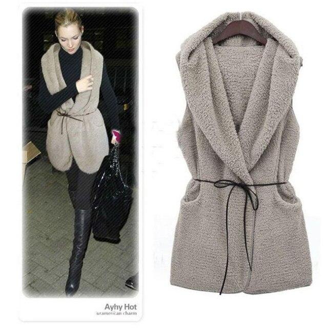 c428a916d43 Nouveau automne   vêtements de sortie d hiver femmes gilet long décontracté  sans manches à