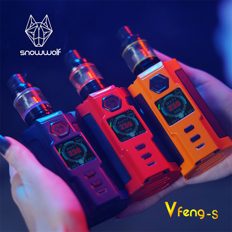 Sigelei Snowwolf Vfeng-S Box Mod Kit 230W Mod Elecctronic Cigarette Kit 2.8ml Tank Zinc alloy+Plastic Vape Mod Kits цена