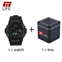 TTLIFE Men Fashion Sports Wristwatch Male LED Back Light Analog Digital Watch Minimalist Electronic Clock Relogio Masculino TS18