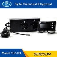 RINGDER THC 221 Digital Temperature Humidity Controller Regulator Hygrothermostat Thermo hygrostat Greenhouse Reptile Terrarium