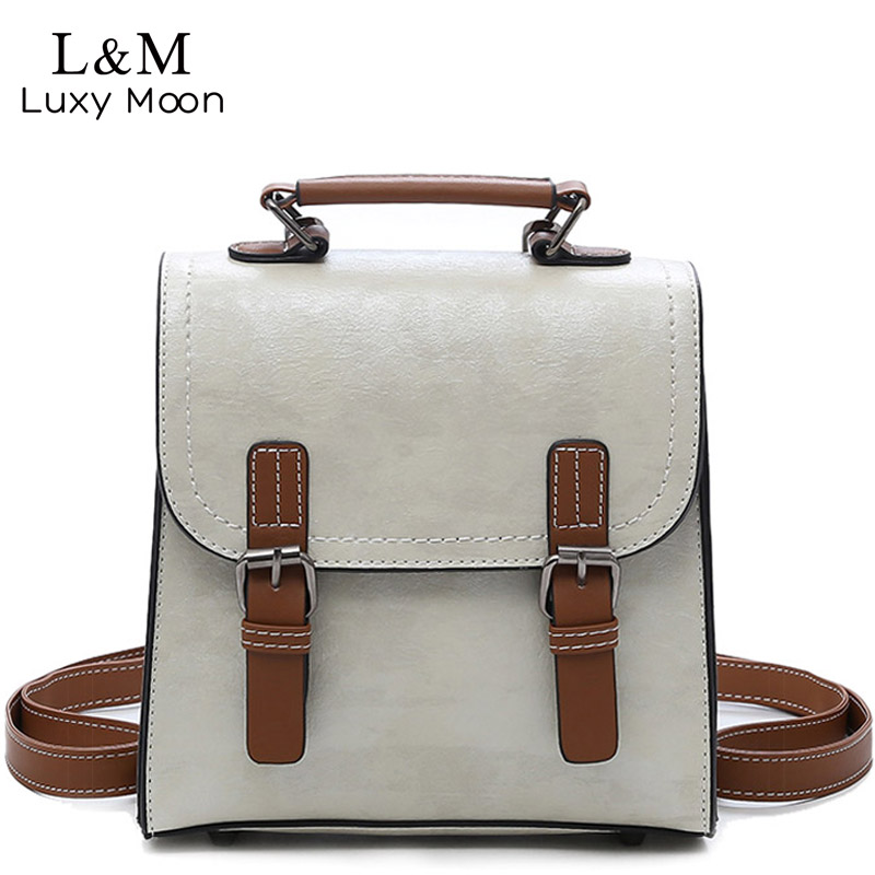 Luxy moon Retro Women 's Backpack PU Leather Travel Bag For Teenage Girls Female Backpacks mochila Day Pack School Bags XA433H luxy moon real genuine leather backpack for women sheepskin small mini mutifuction shoulder bag fashion women s bags zd724