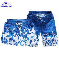 WildSurfer Quick Dry Beach Shorts For Couple Swimwear Men Surf Short Pants Male Summer Women Swim Surf Short De Bain Femme SP67