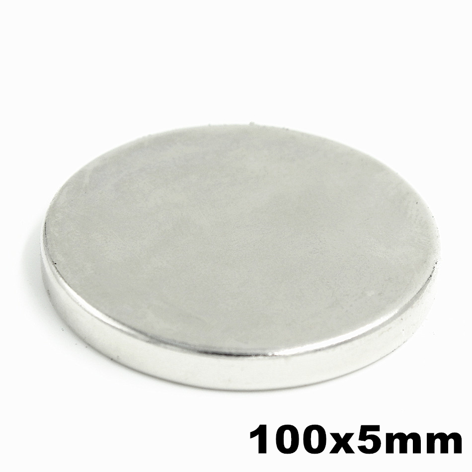 1pcs 100x5mm Super Powerful Strong Bulk Small Round NdFeB Neodymium Disc Magnets Dia 100mm x 5mm N35 Rare Earth NdFeB Magnet 10pcs 60x40x5mm super strong neo neodymium magnet 60x40x5 ndfeb magnet 60 40 5mm 60mm x 40mm x 5mm magnets 60mmx40mmx5mm
