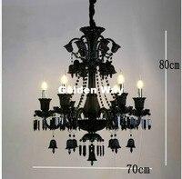 Free Shipping Modern Black Crystal Chandelier Modern Black Bedroom Pendant Chandelier Tiffany E14 Crystal Chandelier Lighting