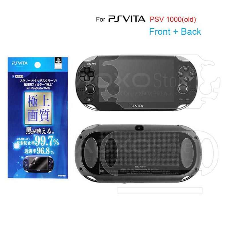 2Pcs Front+Back HD Clear Protective Film Surface Guard Cover for Sony PSV2000 Psvita PS Vita PSV 1000 LCD Screen Protector+Wiper