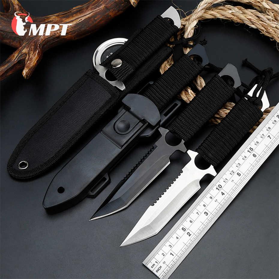 Nóż myśliwski naprawiono bladeTactical spadochroniarze nóż polowanie ze stali nierdzewnej nurkowanie Survival Camping kieszonkowe noże machet