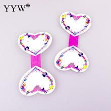 YYW 100pcs Luxurious Pink Heart Paper Necklace Jewelry Display Cards Holder Earring Display Cards 55X105mm Wholesale 2017