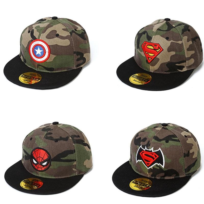 Intenzionale Super Heroes Camouflage Cappello Di Sun Modello Deadpool Batman Modello Hip Hop Cap Giocattolo Film Versione Giocattoli Regalo Per I Bambini/ Bambini