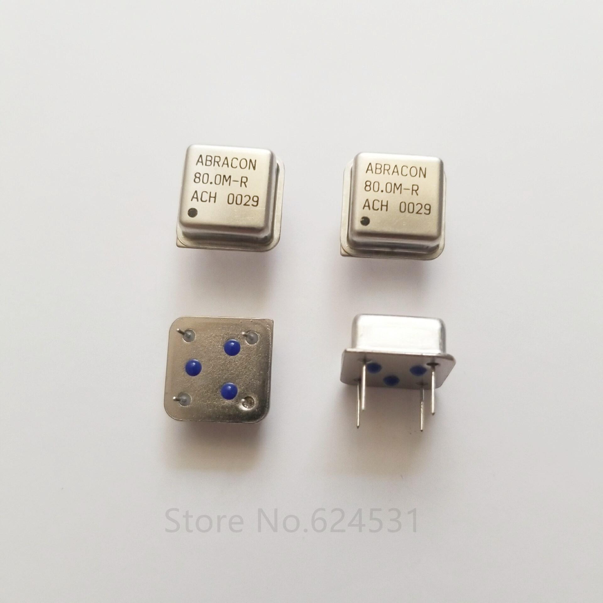 10pcs In-line Active Crystal Oscillator Clock Square Half Size DIP-4 OSC 80M 80MHZ 80.000MHZ