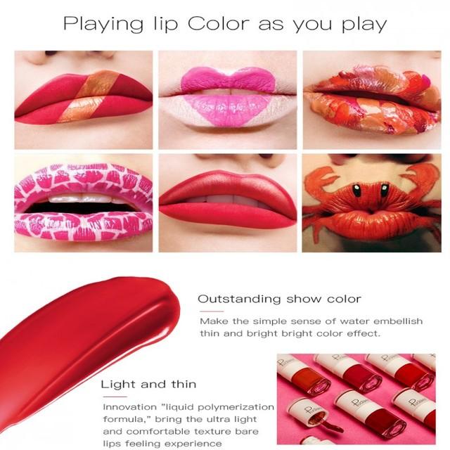Liquid Lipstick Waterproof Makeup Long Lasting Lip Gloss Rouge Tools