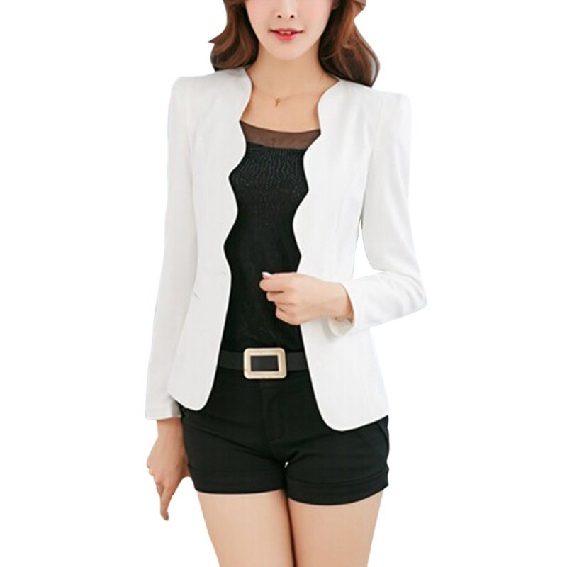 6d3de6db6545 Detail Feedback Questions about Pink Casual Business Blazer Suit Women One  Button Jacket Coat Outwear Blazer Candy Color 2017 Faddish women blazers  and ...