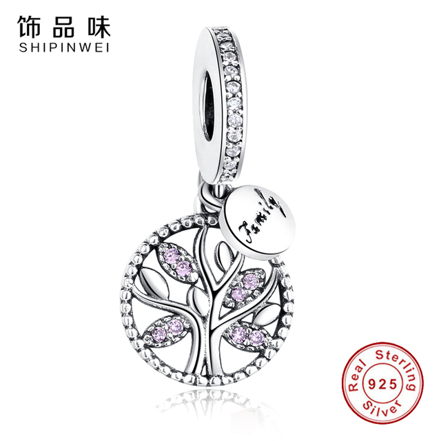 EVOJEW 925 Sterling Silver Family Tree of Life Charm Pendant Bead Fit Pandora Bracelet DIY Jewelry Making