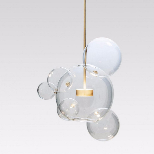 modern clear glass bubble ball led pendant light fixtures bolle lamp globe pendant lamp lighting lustre