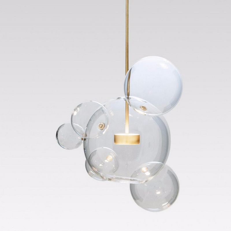 Modern Pendant Lights Bubble Globe Pendant Lamp Glass Hanging Lamp Home Lighting Lustre luminaire LED Light Fixtures iwhd led pendant light modern creative glass bedroom hanging lamp dining room suspension luminaire home lighting fixtures lustre