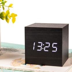 New Household Cubic Numerical Wooden Solid Color High-quality Practical Electronic Clock