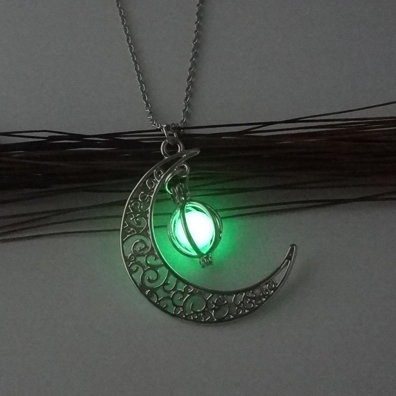 Fluorescent Pendant Necklace